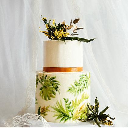熱帶雨林-彩繪鮮花蛋糕