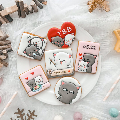 蜜桃貓 糖霜餅乾