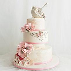 典雅白紗-多層客製婚禮蛋糕