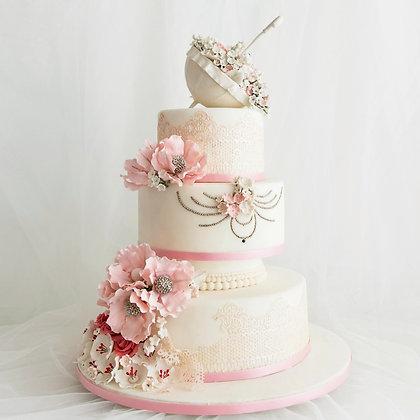 典雅白紗-婚禮蛋糕