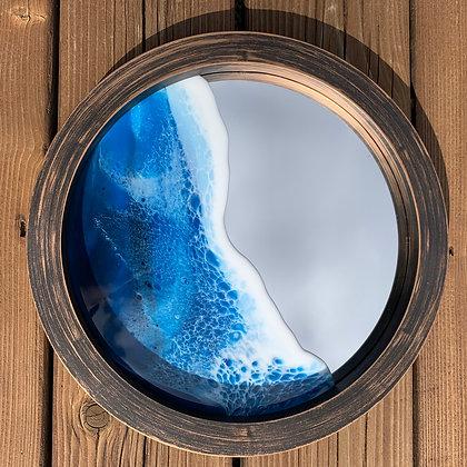 Large Ocean Mirror - Brown