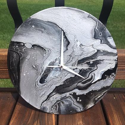 Metallic Silver, Black, White
