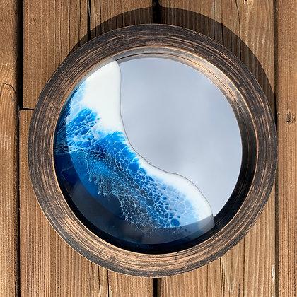 Medium Ocean Mirror - Brown