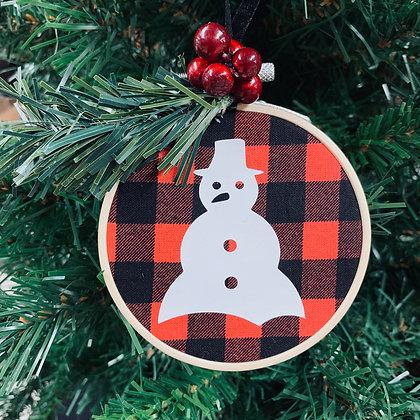 Plaid Ornament - Snowman