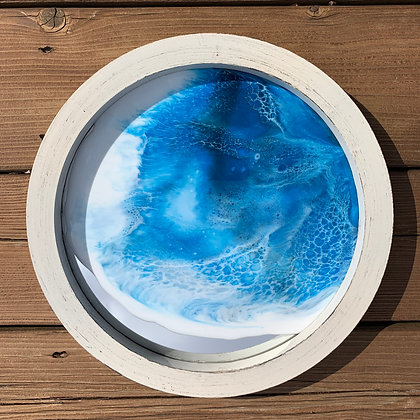 Large Ocean Mirror - White