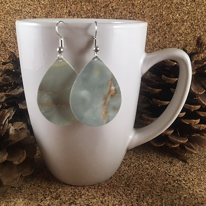 Light Blue and Gold Agate