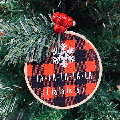 Plaid Ornament - Fa La La