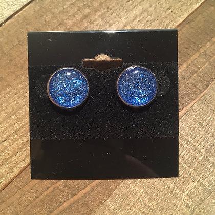 Dark Blue and Light Blue Glitter