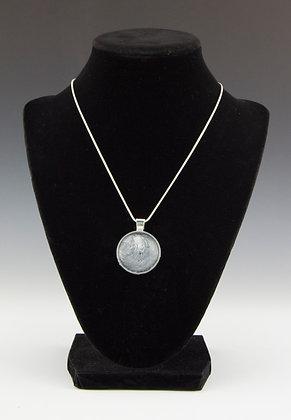 Black, White, Metallic Silver