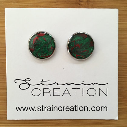 Metallic Green and Red