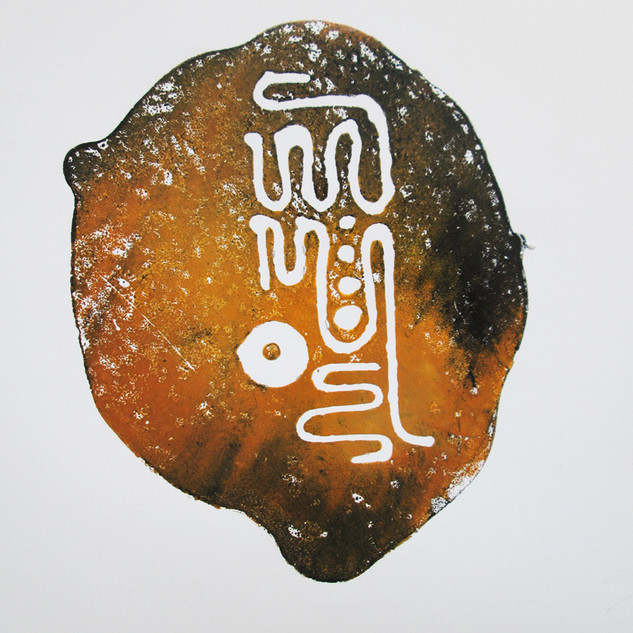 Jan Sajdak Hieroglif grafika 30 na 50 cm