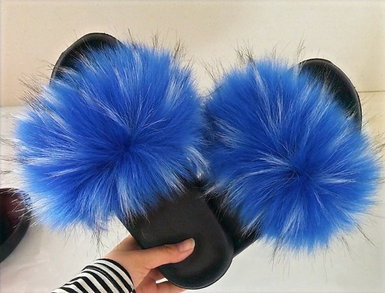 Blu' Rain Faux Fur Slides