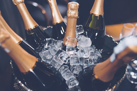 Champagne in ice ready to be served at a party