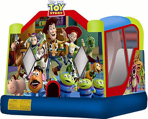 toy story jumping castle with slide hire melbourne and best bouncy castle rentals and party hire melbourne