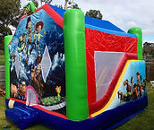 toy story with slide jumping castle hire melbourne and best bouncy castle rentals and party hire melbourne