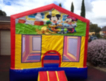 mickey and minnie mouse small jumping ca