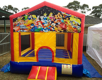 disney characters small jumping castle.j