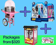 party packages, fairy floss, popcorn and jumping castle hire melbourne and best bouncy castle rentals and party hire melbourne