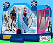frozen castle with slide jumping castle hire melbourne and best bouncy castle rentals and party hire melbourne