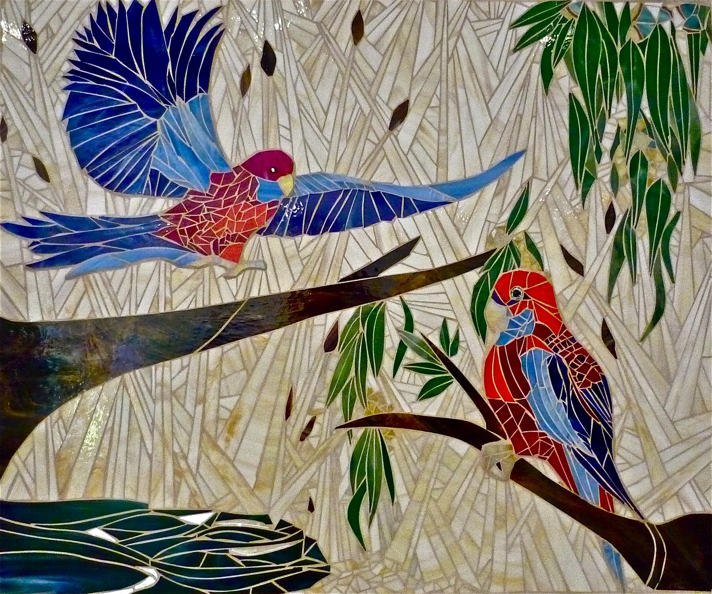 Crimson Parrots