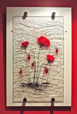 Panel Poppies wall hanging