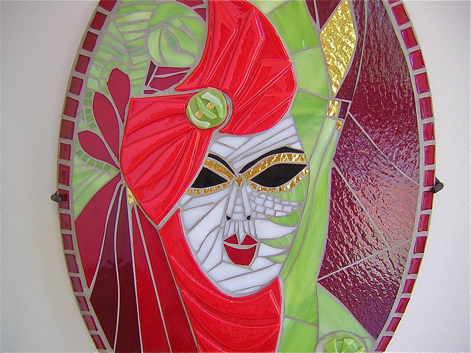Mosaic mask. 3 sisters.carmen