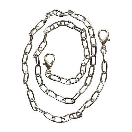 Silver Paper Clip Mask Chain