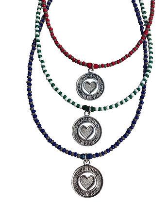 Token Coin Beaded Necklace