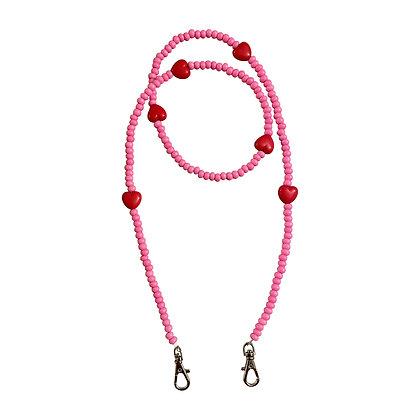 Pink Valentine's Day Mask Chain