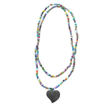 Pastel Multicolor Heart Pendant