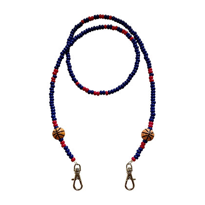 Navy & Red Basketball Mask Chain