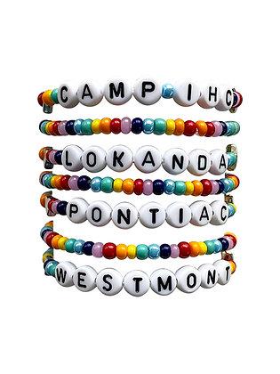 White & Rainbow Camp Bracelet