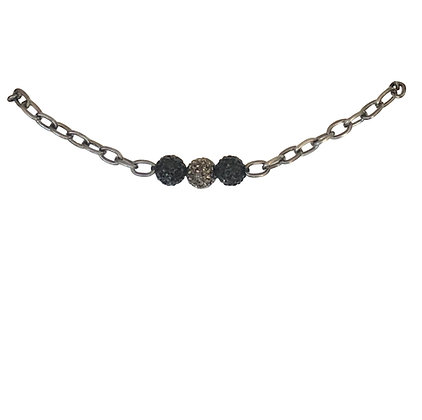Jet Black Chain Necklace
