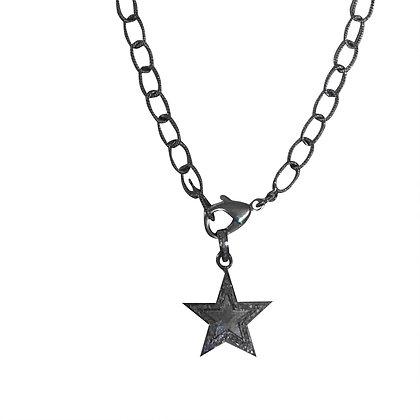 Matte Silver Star Pendant