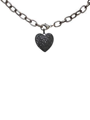 CZ Black Heart Pendant