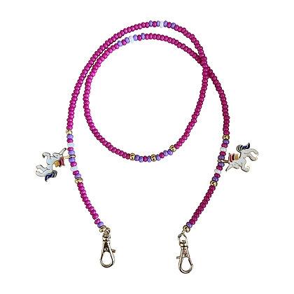 Pink Unicorn Mask Chain