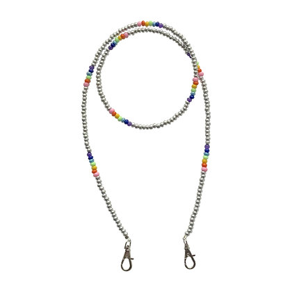 Silver & Rainbow Mask Chain
