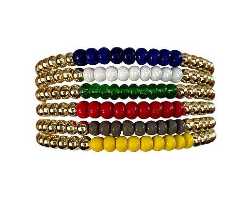 Camp Solid Color Gold Bracelet