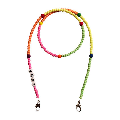 Neon Multi & Accent Beads Mask Chain