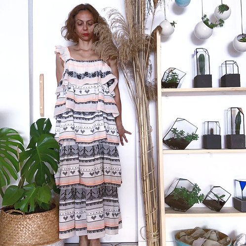 Long Dress with Shoulder Straps by Devotion Twins