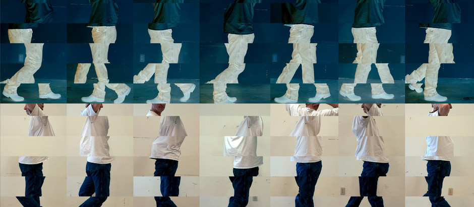 """Jiang Feng 江峰 Performing """"Wall/Floor Positions"""" in Bruce Nauman: Disappearing Acts at MoMA/MoMA PS1"""