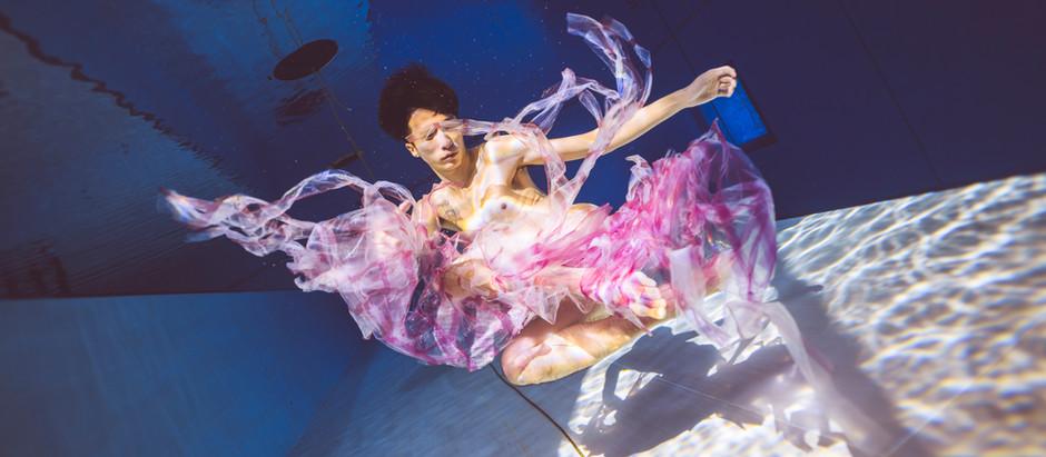 入選水下三十米節目《決戰水下伸展臺》之水下模特參賽者