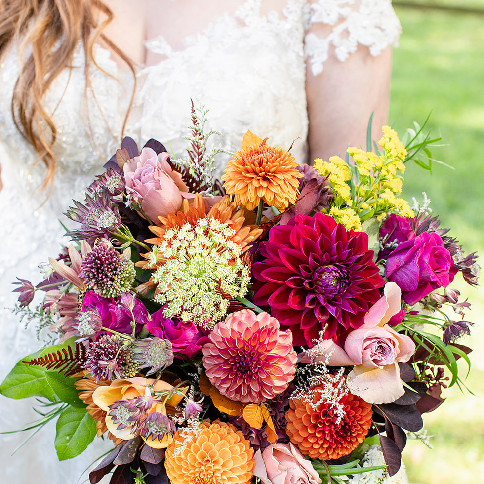 Cascade Bridal Bouquet - Farm Market Vibes