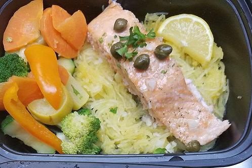 """Healthy Start"" Salmon Piccata"