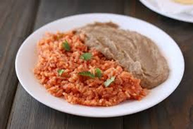 Southwestern Rice and Refried Beans