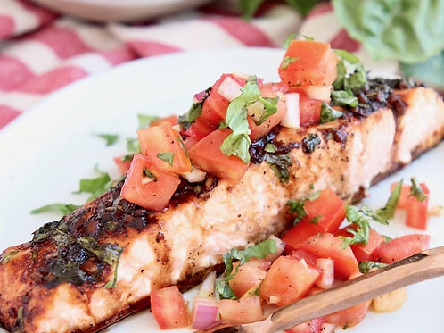 Bruschetta Baked Salmon