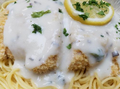 NEW! Panko-Parmesan Chicken Breast with Lemon Tarragon Sauce