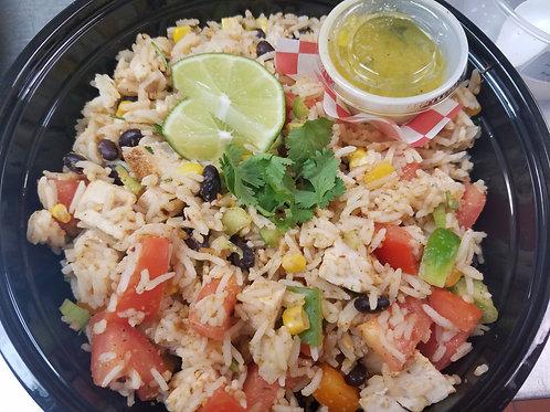 NEW! Main Dish Salad: Fiesta Chicken and Rice Salad Bowl