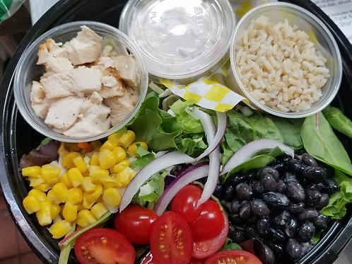 """Healthy Start"" Chicken Burrito Rice Bowl"