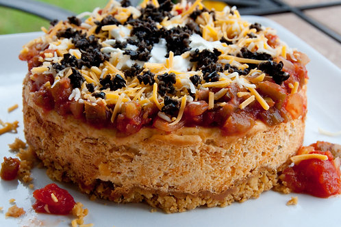 """Sundried Tomato """"Mexican"""" Appetizer Cheesecake"""